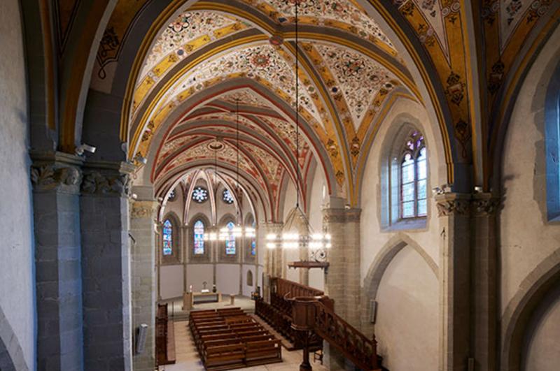 Interior del Templo de Lutry.