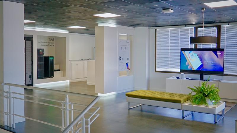 Interior de la sede central de Legrand.