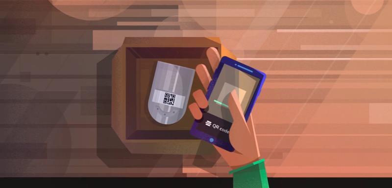 Un usuario escaneando el código QR para activar el sensor.