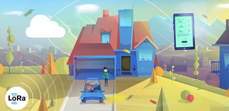 Un dibujo de una casa con las conexiones de Homy.