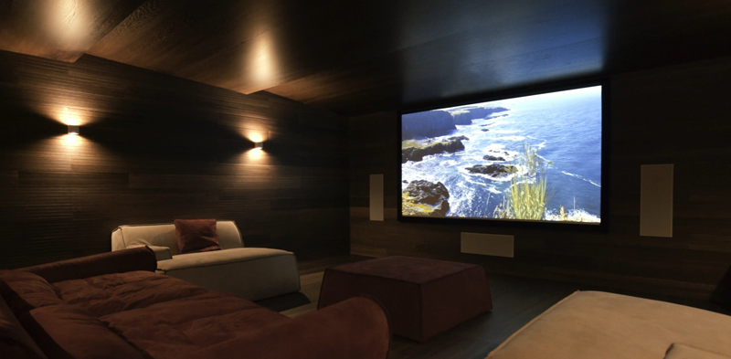Interior de la sala de cine.
