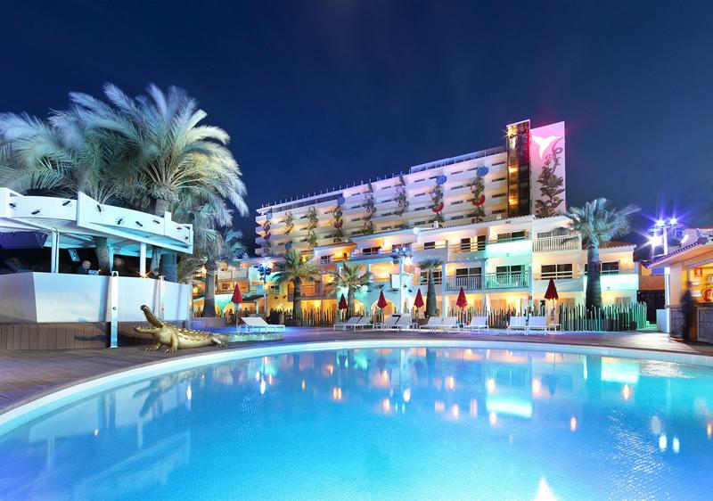 Fachada del Ushuaïa Ibiza Beach Hotel.