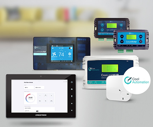 Productos de Crestron y CoolAutomation.