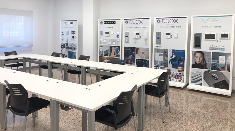Interior de la oficina de Fermax en Leganés, Madrid.