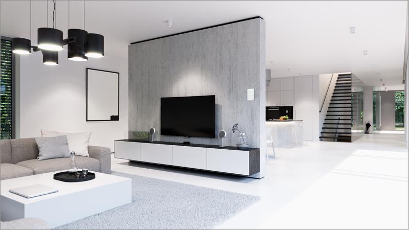 Interior de una vivienda con el ABB Tacteo instalado