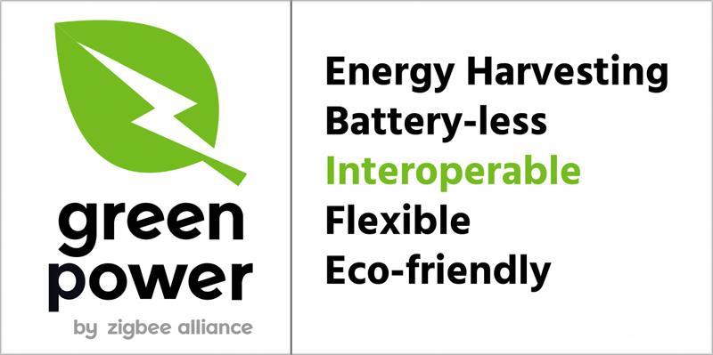 Nuevo logotipo Green Power de ZigBee Alliance.