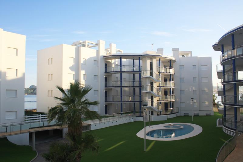 Las viviendas de la urbanización de Ibiza.