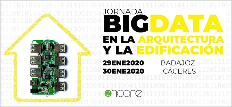 Cartel de las jornadas de Big Data del Colegio de Arquitectos de Extremadura.
