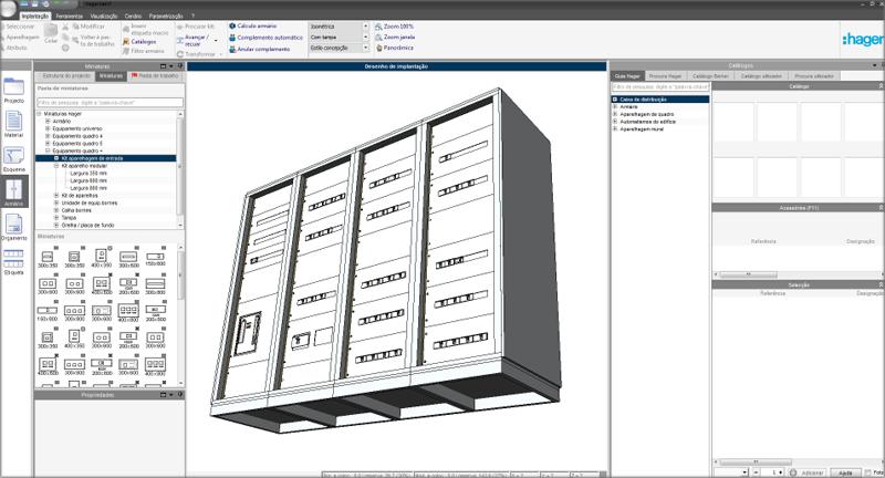 Un pantallazo del software hagercad.project 4.4.
