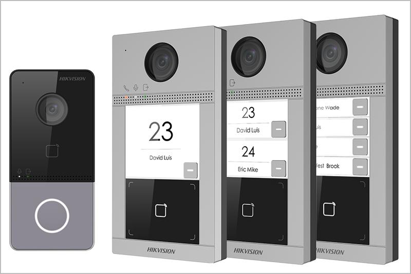 Placas de calle IP de Hikvision.