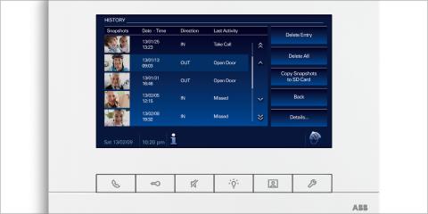 La nueva pantalla de 7 pulgadas de Niessen dispone de una interfaz de usuario autoexplicativa