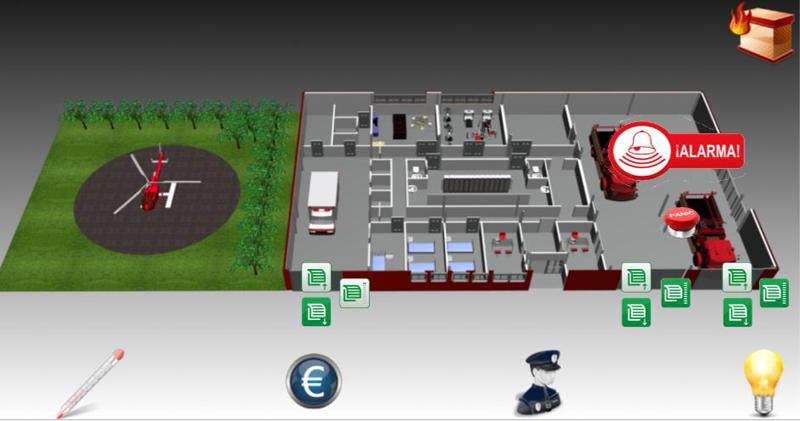 Mapa del parque de bomberos de Aguarin, en Álava.