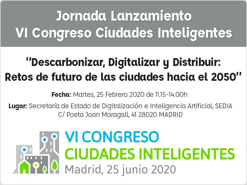 Jornada VI Congreso Ciudades Inteligentes.