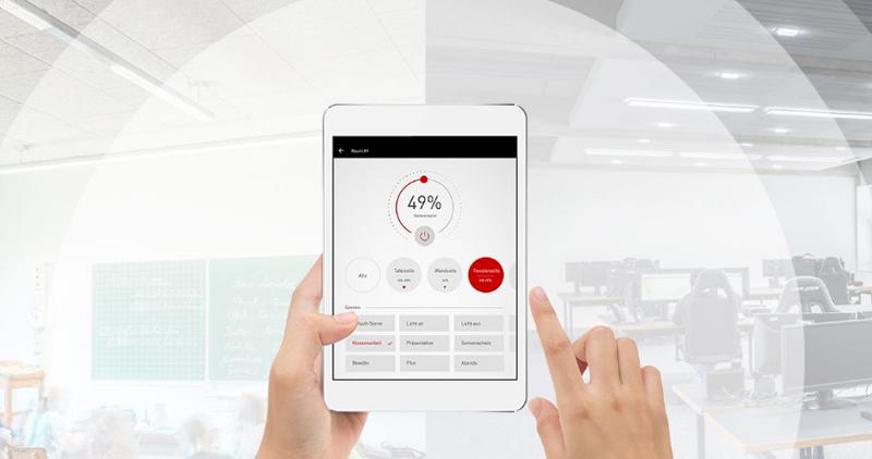 Sistema de gestión LiveLink para gestionar las iluminaciones inteligentes de Trilux.