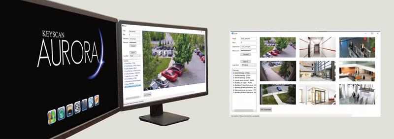 Software de gestión de control de accesos Keyscan Aurora.