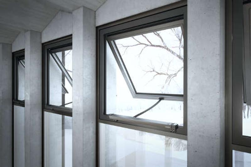 Unas ventanas con el sistema de ventilación natural de Geze.