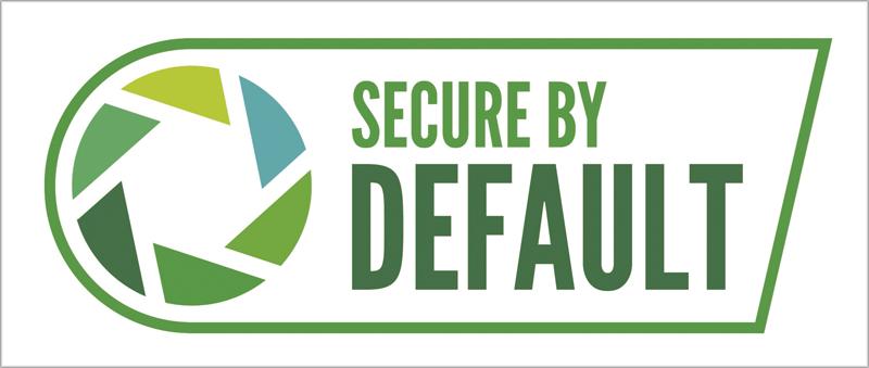 Logotipo de la certificación Secure by Default.