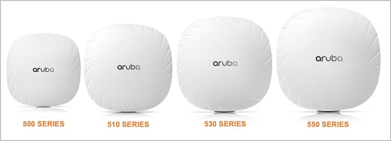 Puntos de acceso de la serie 500, 510, 530 y 550 de Aruba.
