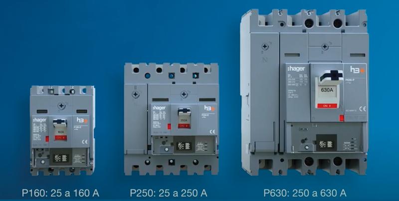 Nueva gama de interruptores automáticos de caja moldeada h3+ de Hager.