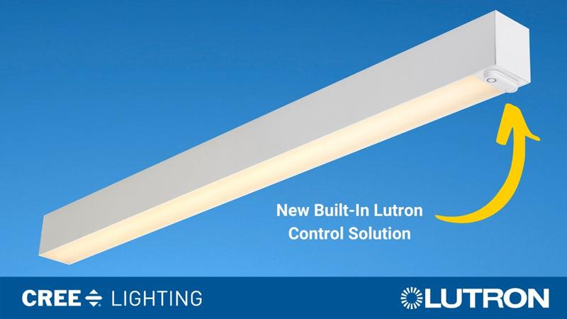 Luminaria de Cree Lighting con el controlador de Lutron.