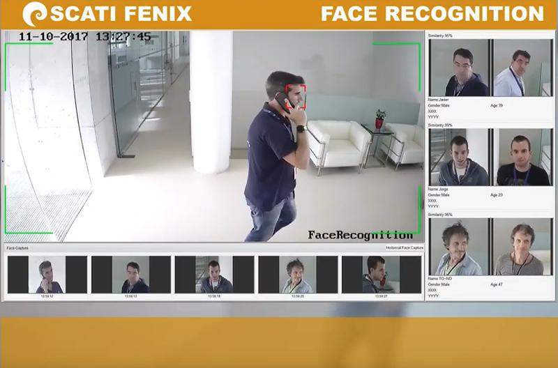 Sistema de reconocimiento facial de Scati.