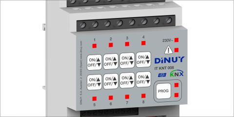 Dinuy comercializa dos actuadores multifunción que admiten persianas motorizadas