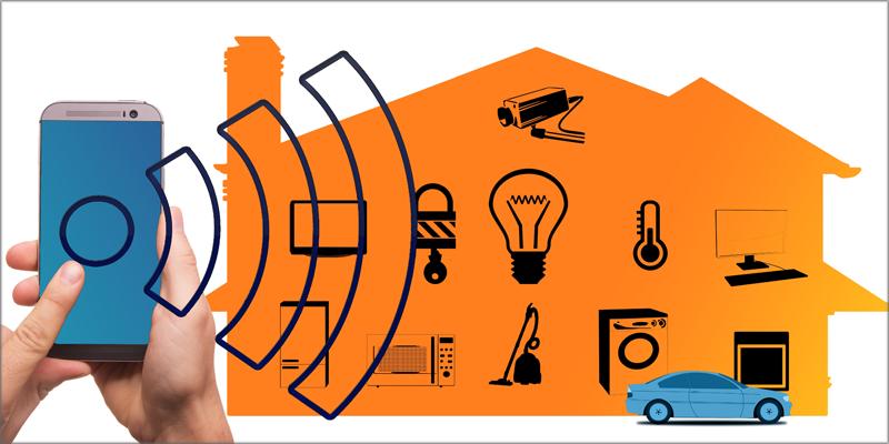 El hogar digital está interconectado con diversos dispositivos.