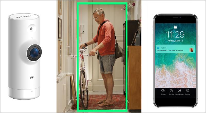 Nueva cámara wifi con detección de personas de D-Link.