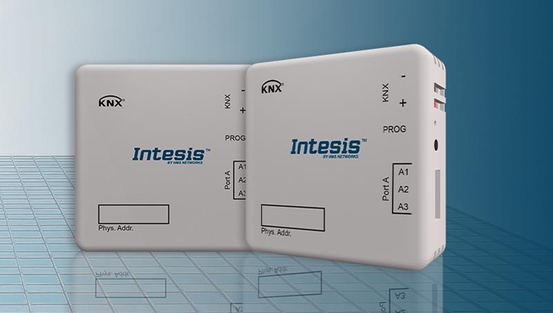 Pasarela compacta Modbus RTU a KNX de Intesis.