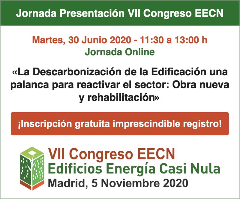 Cartel de la jornada de presentación del VII Congreso Edificios Energía Casi Nula.