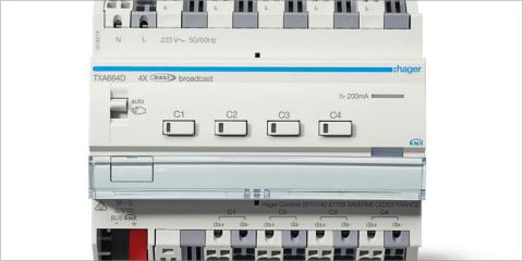 Hager presenta su nuevo actuador DALI KNX easy con control de cuatro áreas