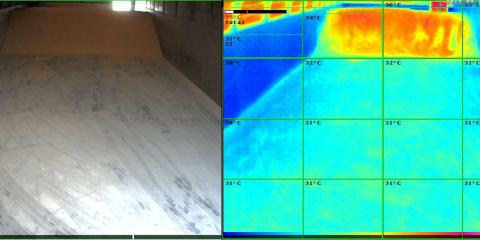 Conservación de la mercancía a granel a través de la tecnología termográfica de Mobotix
