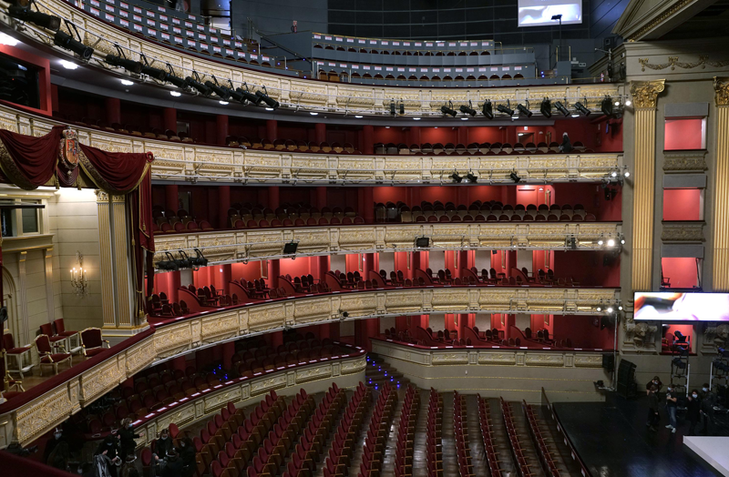 Interior Teatro Real de Madrid.