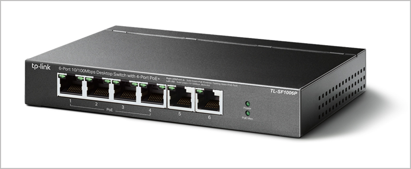 switch profesional TL-SF1006P de TP-link.