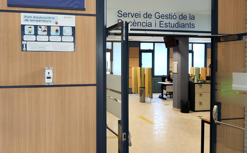 Sensor instalado en la Universidad Jaime I.