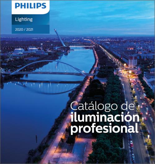 Catálogo de iluminación profesional de Signify.