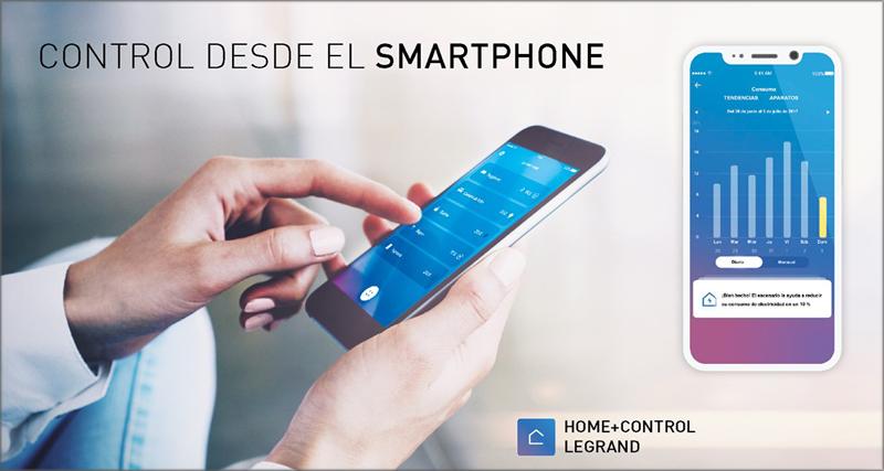 Aplicación Home+Control de Legrand.