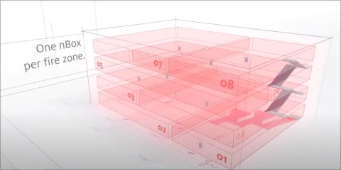 Máxima seguridad con el sistema de baterías nBOX para el alumbrado de emergencia de Zumtobel