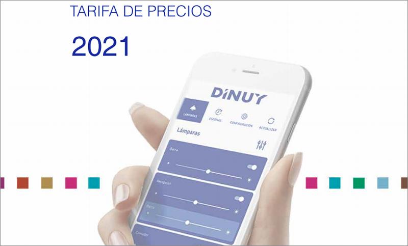 Dinuy catálogo de tarifas 2021.