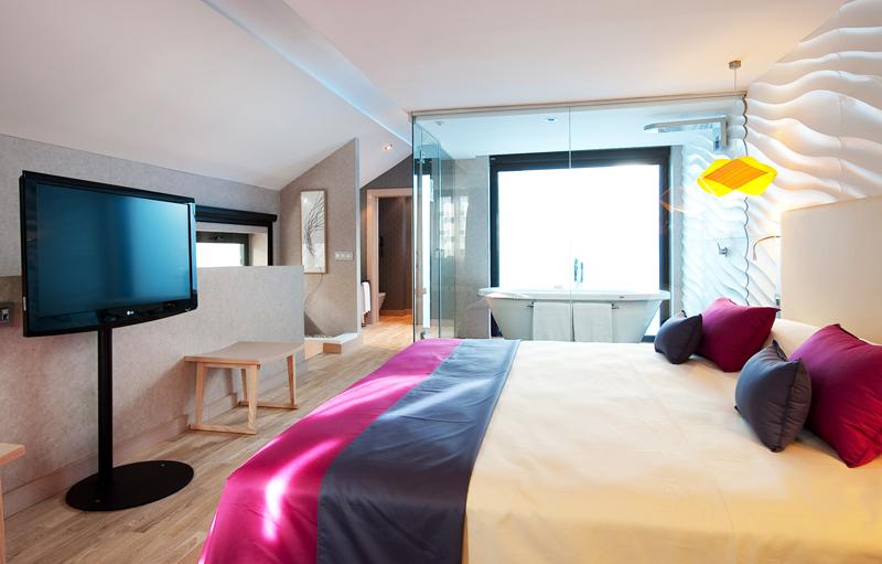 Interior de una de las habitaciones del Hotel Vincci de Málaga.