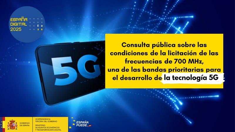 Consulta pública licitación banda 700 MHz.