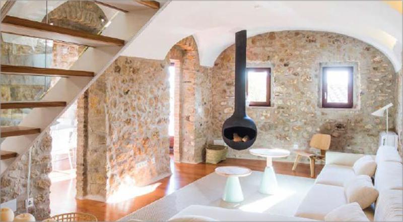 Interior de una casa.