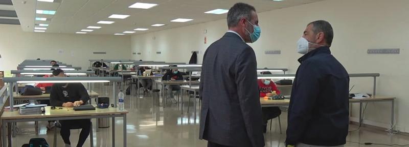 Universidad de Huelva sala de estudio.