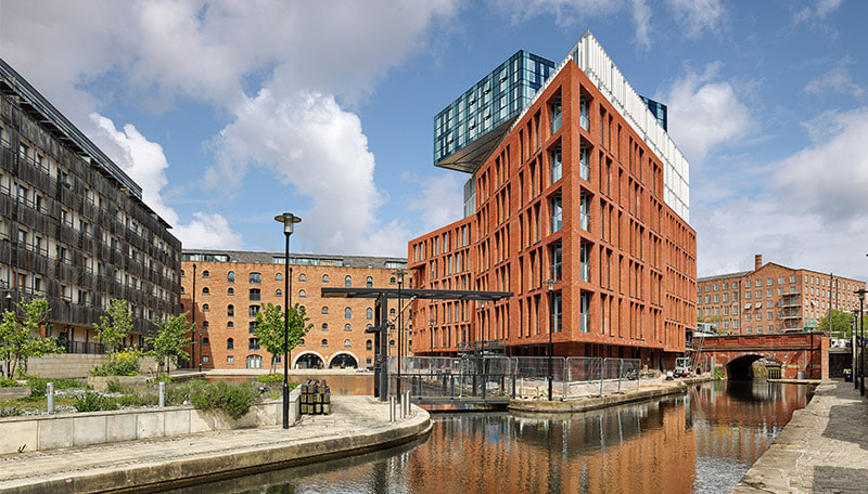 Complejo residencial Burlington House en Manchester.