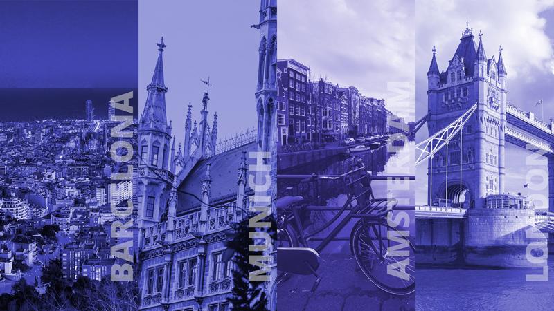 Ciudades europeas.