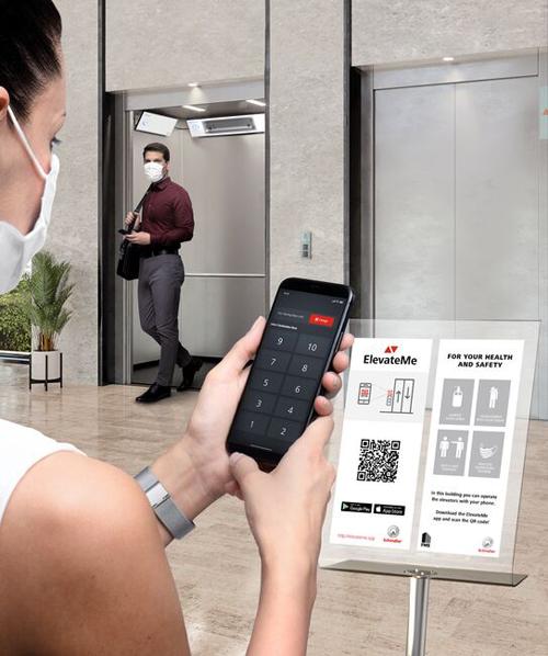 Aplicación móvil ElevateMe de Schindler.