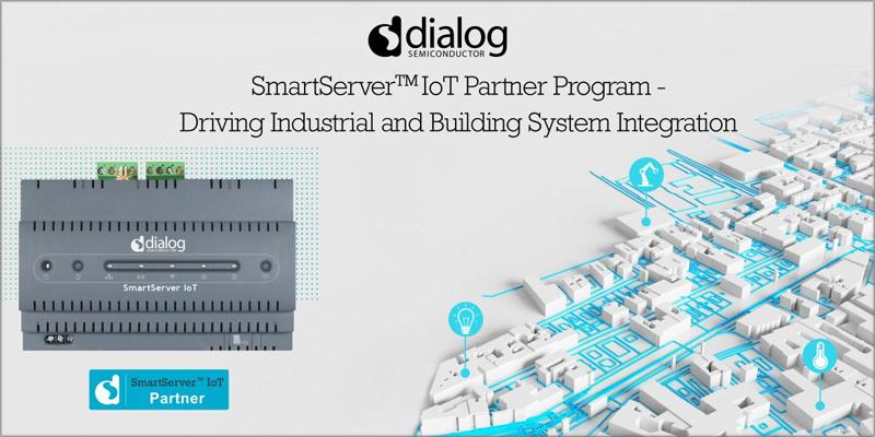 Progrma partners SmartServer IoT Dialog Semiconductor.