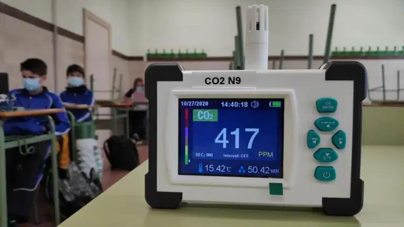 Medidor de CO2 del CSIC.