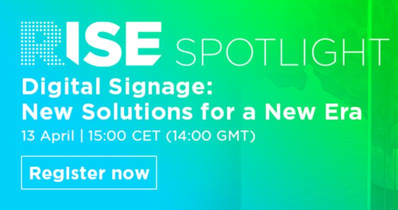RISE Spotlight sobre señalización digital
