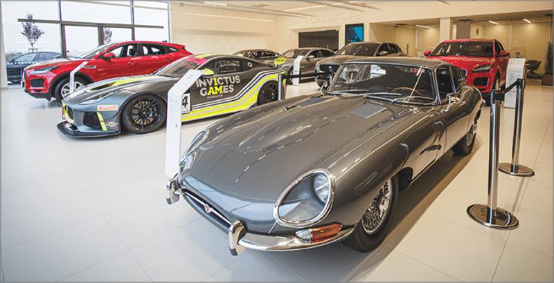 Sala de exposiciones de Jaguar.